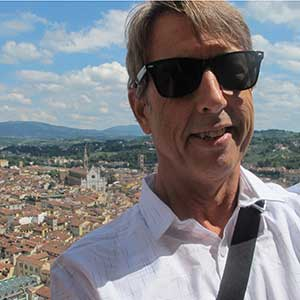 photo of James Tiebout, owner of TEBO Design, in Firenze